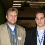 """Foto (von Michael Green): Frank Böttcher (Herausgeber des """"Wettermagazin"""") und Hans-Martin Goede"""