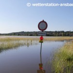 17. Juni 2007: Sommerhochwasser an der Altmühl bei Herrieden, in nur 3 Wochen (29.05.07, 16.06.07 und 21.06.07) wurde 3 x die Meldestufe 3 überschritten!