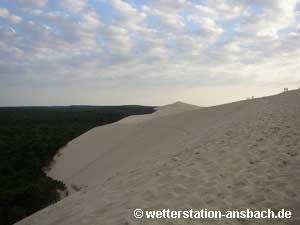 Altocumulus an der Dune du Pilat. Diese ist mit 103 Meter Höhe die größte Wanderdüne Europas, August 2005