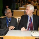 Foto (Hans-Martin Goede): Prof. Dr. Mojib Latif (links) und Prof. Dr. Claussen (rechts)