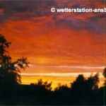 Sonnenuntergang in Bergedorf/HH, Herbst 1991