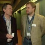 Foto (von Andreas Rosar): ZDF-Wetterfrontmann Dr. Gunther Tiersch im Gespräch mit Hans-Martin Goede