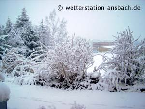 Winter zum Frühlingsbeginn in Schalkhausen 23. März 2007