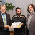 v.l.n.r.: Hans-Martin Goede, Armin Lauermann, Hannes Hüttinger. Foto: Alexander Biernoth