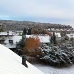 """Wintereinbruch am 27./28.10.2012 passend zum Beginn der """"Winterzeit"""" in Schalkhausen"""