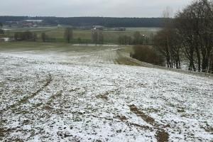"Der Skihang von Birkach am 24. Januar - nix ""Ski & Rodeln gut"" im Januar 2015 :-("