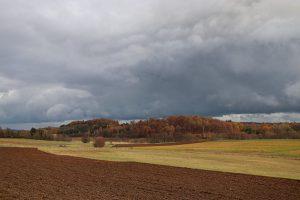 """Viel """"Drama"""" und nichts dahinter. Die Front von Tief """"Alexandra"""" brachte am 13.11. nur 0,6 Liter Regen. Foto: Hans-Martin Goede"""