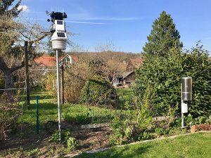 Seit 16. April 2019 ist die 4. Generation der DAVIS-Wetterstationen in Ansbach-Schalkhausen aktiv. Foto: Goede