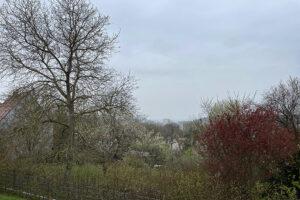 """Aufzug der Front von Tief """"Christian"""" über Ansbach am 30. April 2021. Foto: Goede"""