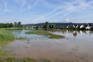 Hochwasser an der Rezat, 10. Juli 2021, Foto: U. Goede